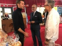 Our friend Luigi Giuliani with his products and Prince Emanuele Filiberto of Savoia