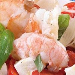 Petite salade de crustacés au basilic