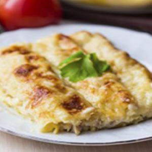 Cannellonis au fromage de chevre et a la mente