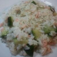 Risotto saumon et courgettes